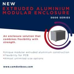 EXTRUDED ALUMINIUM MODULAR ENCLOSURE 5600 SERIES