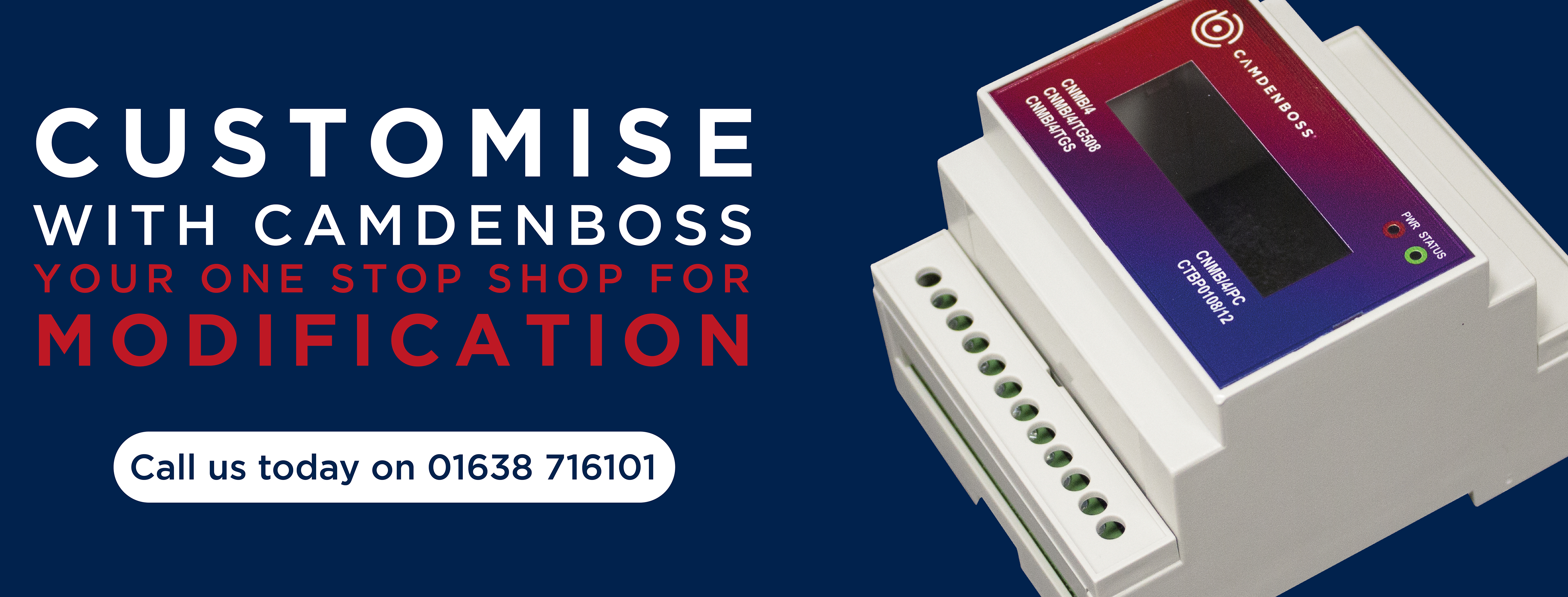 Customise your electronic enclosure with CamdenBoss