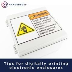 Tips for digitally printing electronic enclosures