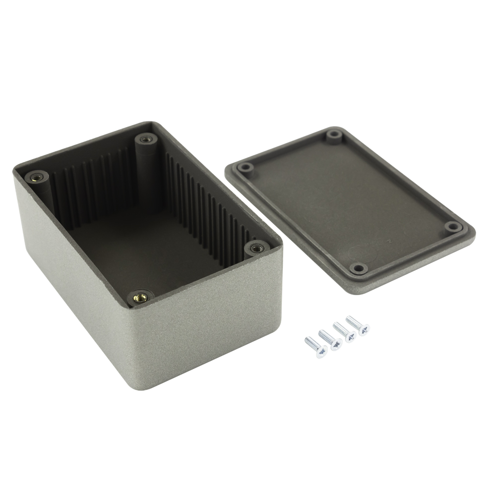 IP65 Black ABS Enclosure with Flanged Lid 105x58x40mm
